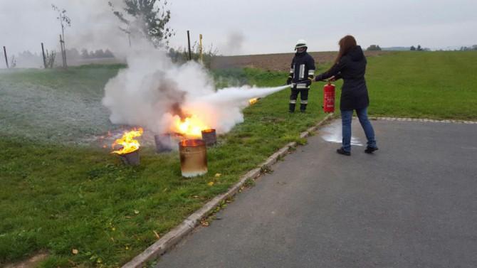 Brandschutzübung Dialyse