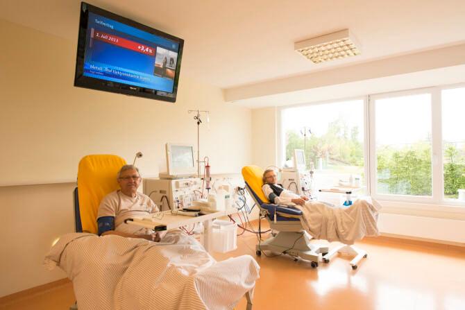 Herr Zankl, Frau Dötsch gehören zu den ersten Dialysepatienten in Kemnath