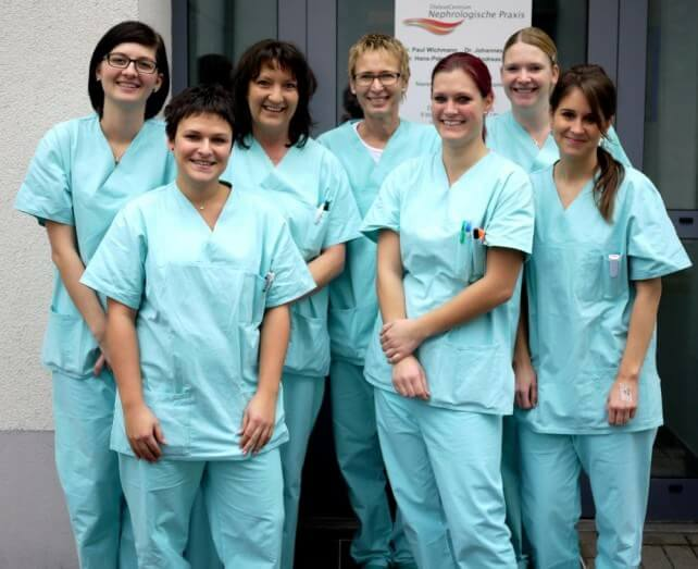 von links nach rechts: Dorothea, Nicole, Sabine, Maria, Steffi, Christina und Judith