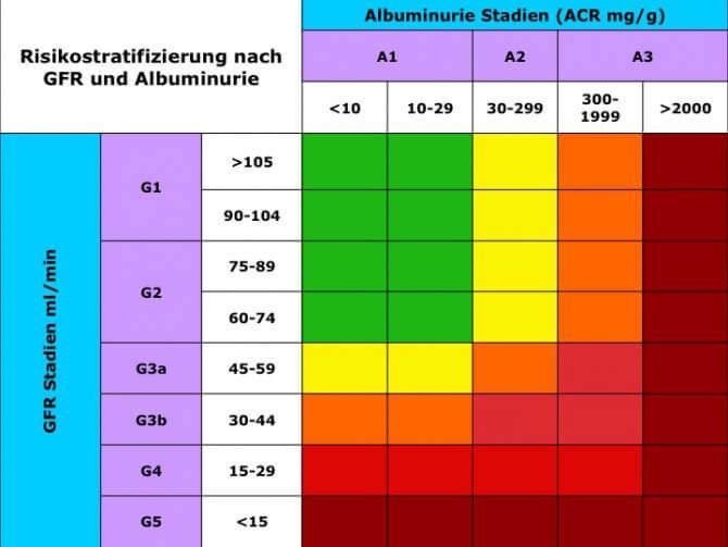 GFR = Glomeruläre Filtrationsrate. chronische Niereninsuffizienz